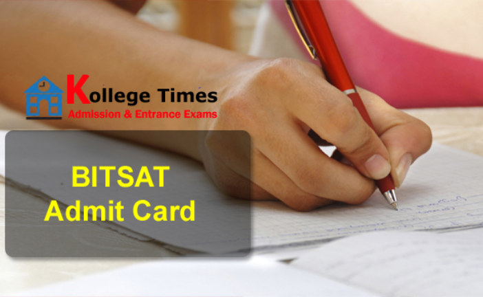BITSAT Admit card 2018 Download Here