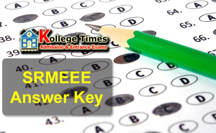 SRMJEEE 2018 Answer key Download here