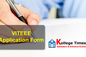 VITEEE Application Form 2018   Available Now