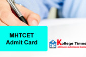 MHT CET 2018 Admit Card | MHCET Hall Tickets