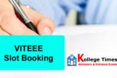 VITEEE 2018 Slot Booking   VIT Slot booking for 2018
