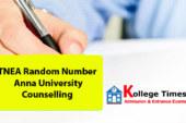 TNEA Random Number 2018 – Anna University Counselling
