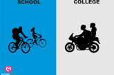 Funny Difference Between College Life And School Life