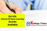 DU SOL Result 2019  for School of Open Learning Check Here